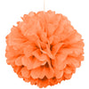 Orange Solid 16in Hanging Tissue Pom Pom