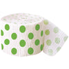 Lime Green Dots Crepe Streamer, 30 ft