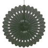 Black Solid Tissue Paper Fan 16in