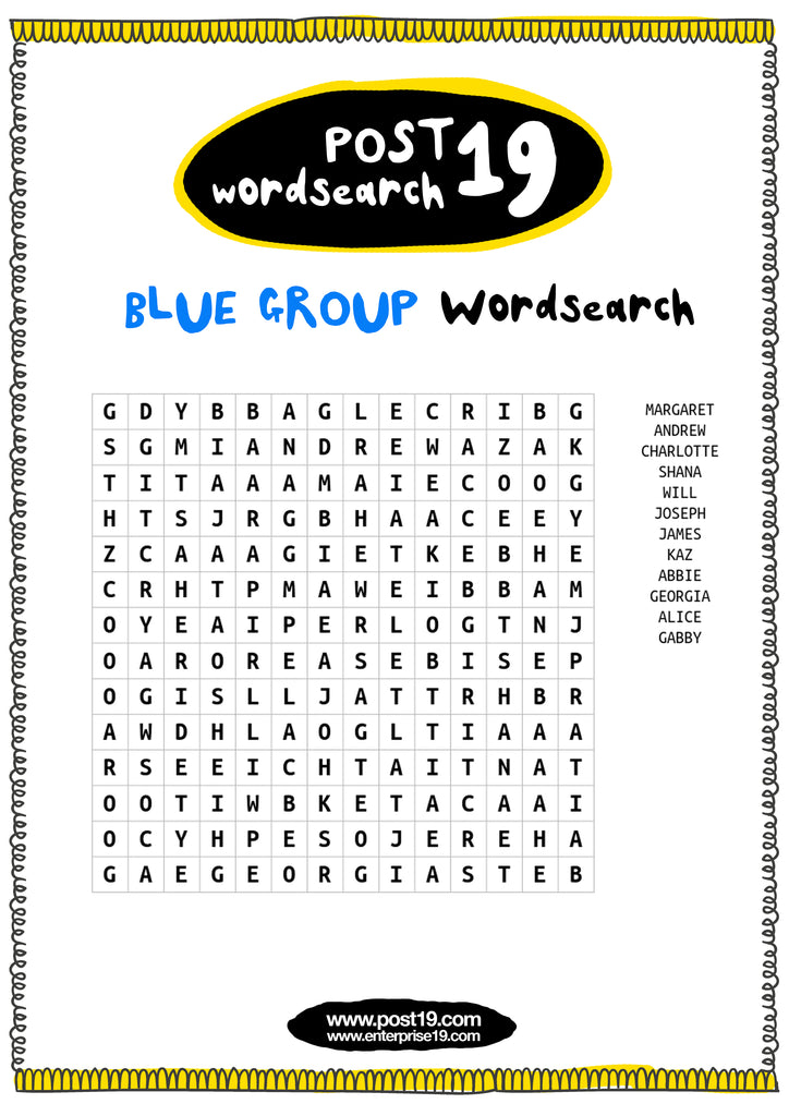 Blue Group Wordsearch