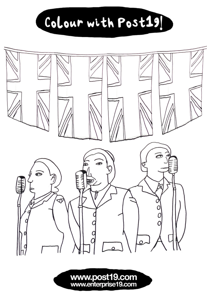 Christopher's Colouring Page for VE Day Celebrations