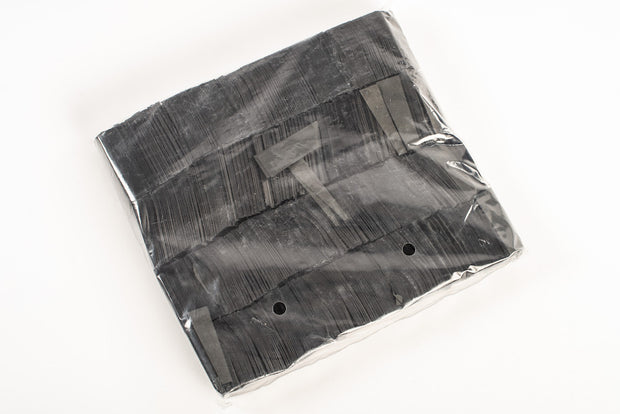 1kg bag of Black paper confetti slips