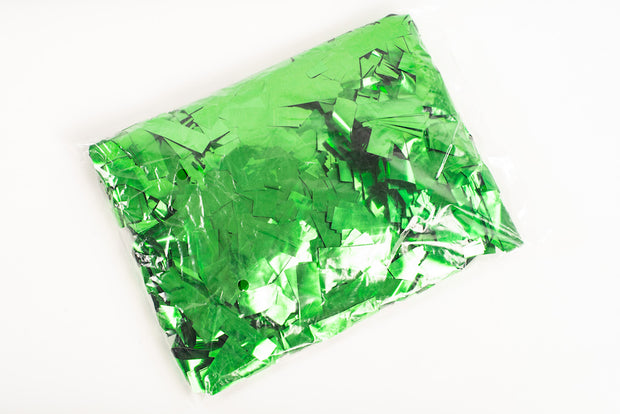 1kg bag of metallic Green confetti slips