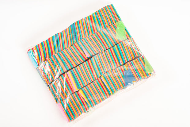 1kg bag of Colourful paper confetti slips V.2