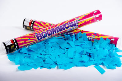 Blue confetti cannon launcher/popper -Gender Reveal