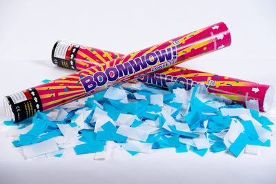 Blue and White Oktoberfest Confetti cannon launcher/popper Octoberfest