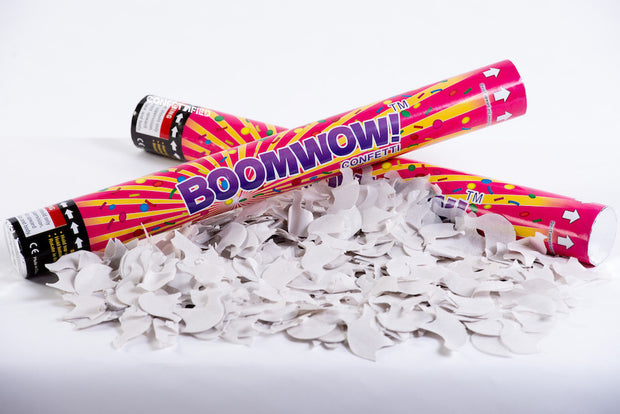 White Dove Confetti launcher cannon launcher/popper