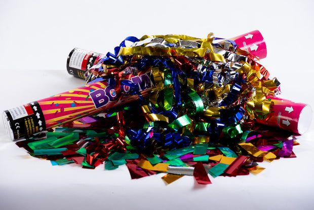 Metallic Streamers & confetti cannon launcher/popper