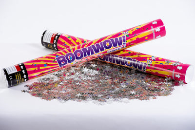 Metallic Snow Flakes Confetti cannon launcher/popper