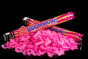 45cm neon pink confetti cannon launcher/popper gender reveal