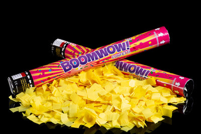 45cm neon yellow confetti cannon launcher/popper