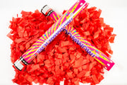Red Slip Confetti cannon launcher/popper