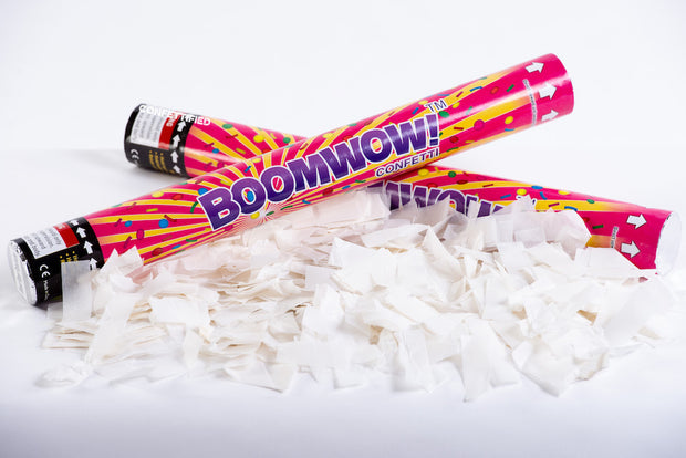 White Paper Slips Confetti cannon launcher/popper
