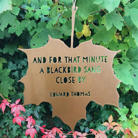 Leaf Quote - Blackbird