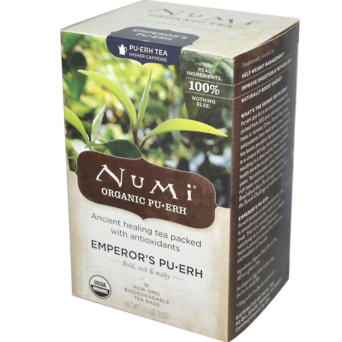 Numi Tea Emperor's Puerh Tea (6x16 Bag)