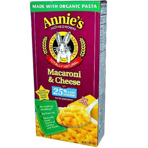 Annie's Homegrown Macaroni & Cheese Low Sodium (12x6 Oz)