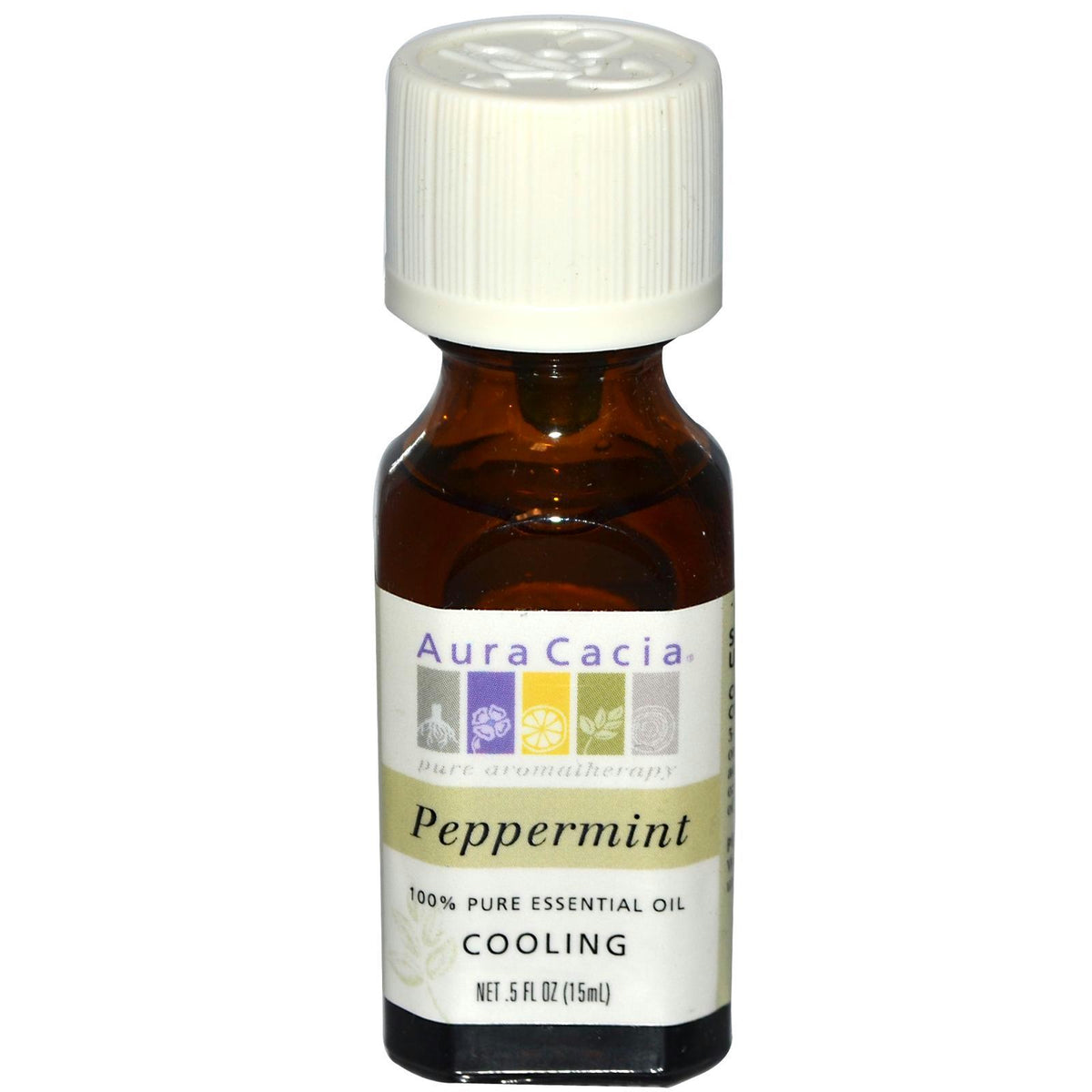 Aura Cacia Peppermint Essential Oil (1x0.5oz)