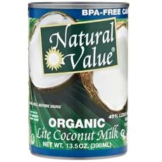 Natural Value Organic Coconut Milk Lite (12x12-13.5 Oz)