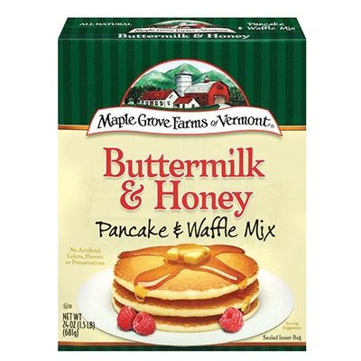 Maple Grove Honey & Buttermilk Pancake & Waffle Mix (6x24 Oz)