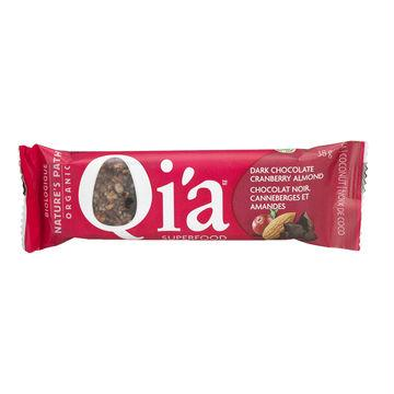 Nature's Path Qi'a Bar Dark Chocolate Cranberry Almond (12x1.3 Oz)
