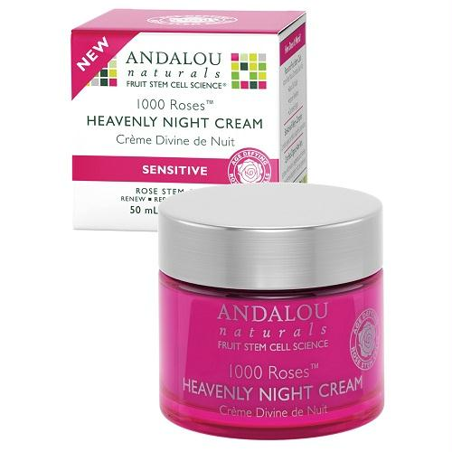 Andalou Naturals 1000 Roses Heavenly Night Cream (1x1.7 Oz)