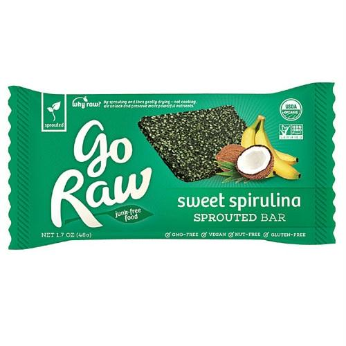Go Raw Organic Spirulina Bar (25x1.7 Oz)