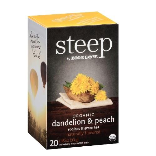 Bigelow Steep Organic Dandellion & Peach Rooibos & Green Tea (6x20 Bag )