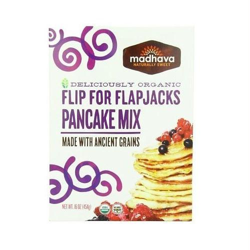 Madhava Organic Pancake Mix With Ancient Grains  Flip For Flapjacks (6x16 Oz)