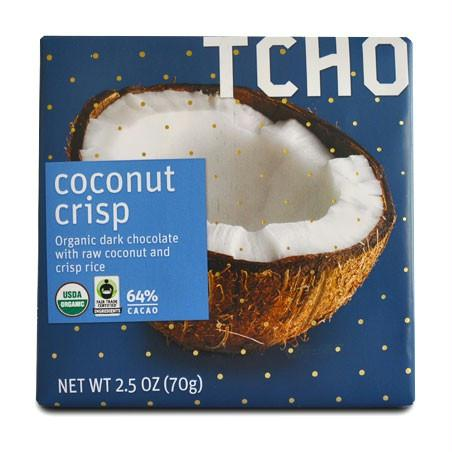 Tcho Chocolate Coconut Crisp (12x2.5 Oz)