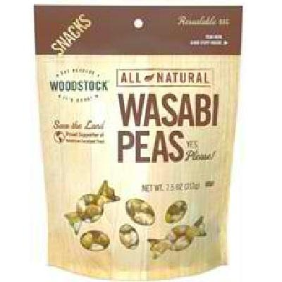 Woodstock Peas Wasabi Natural (8x7.5oz )