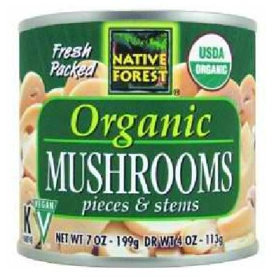Native Forest Mushrooms Pieces-stems (12x7oz )