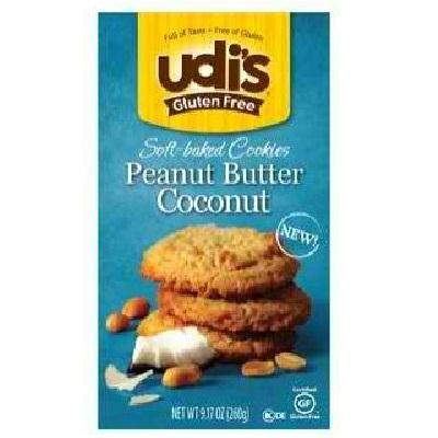 Udi's Gluten Free Peanut Butter Coconut Cookie (6x9.17oz )
