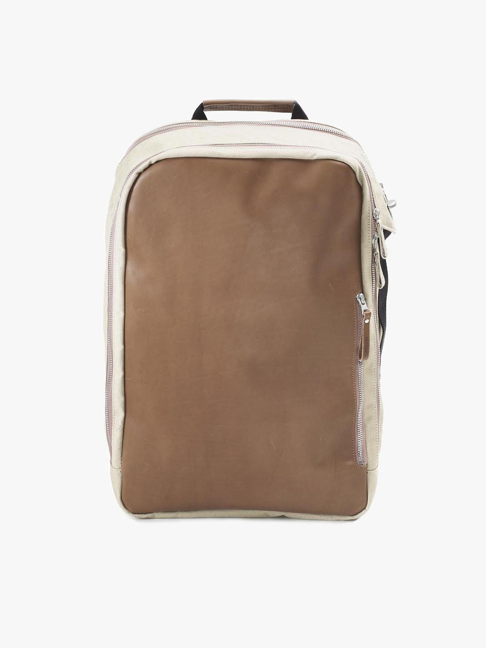 Qwstion Backpack in Leather and Canvas
