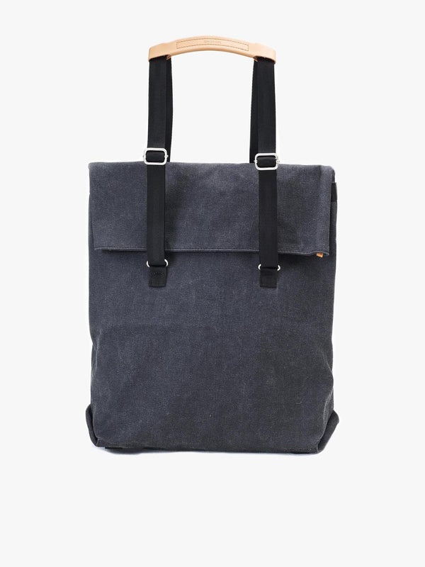 Day Tote from Qwstion in washed black cotton
