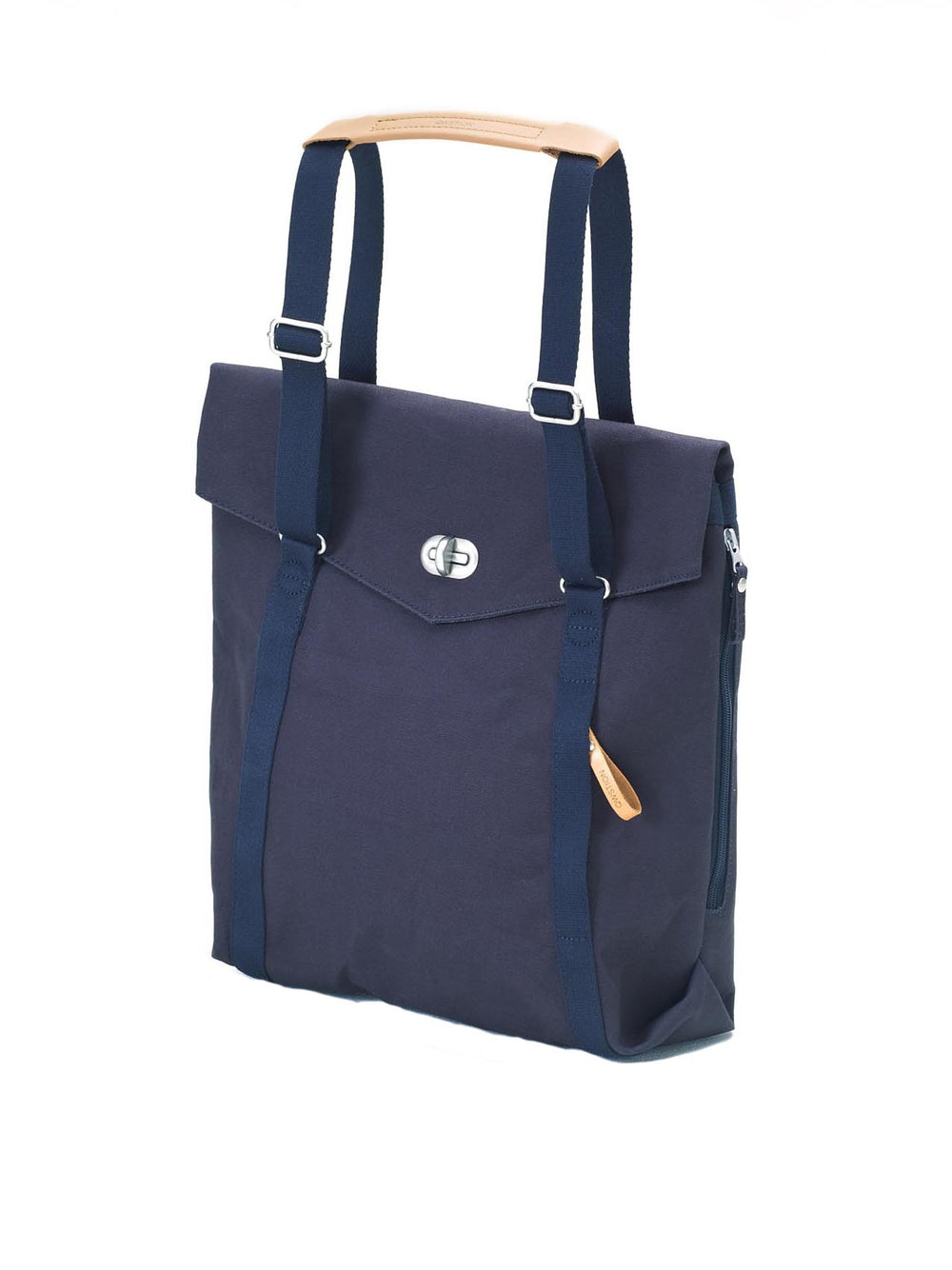 Qwstion Tote Adjustable straps and Vegetable tanned leather handle