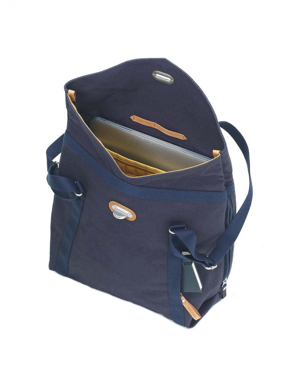 Qwstion Tote padded sleeve for laptop