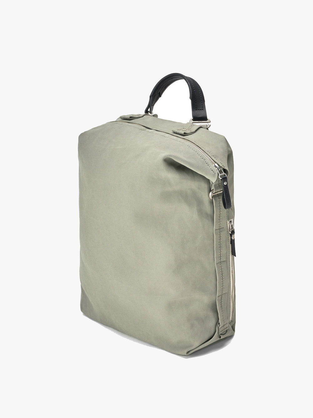 Compact backpack in organic fibers