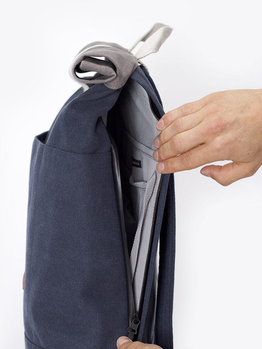 Hajo Backpack zipped side access to the main compartment