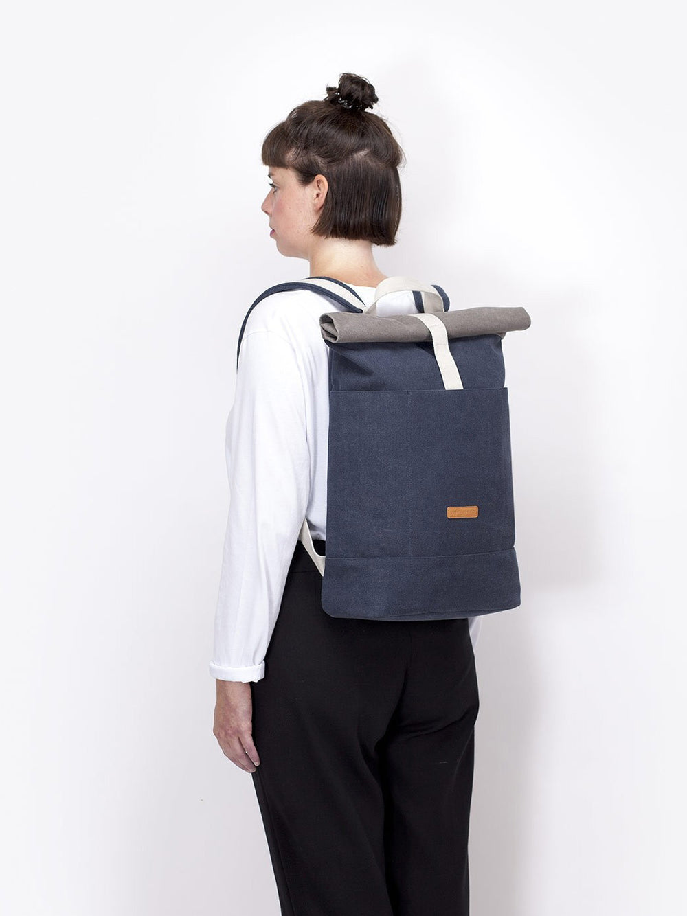Hajo laptop backpack with roll top access