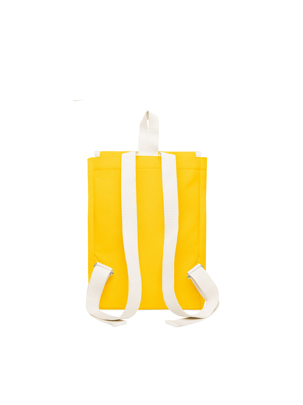 Scout Backpack Yellow and white cotton straps