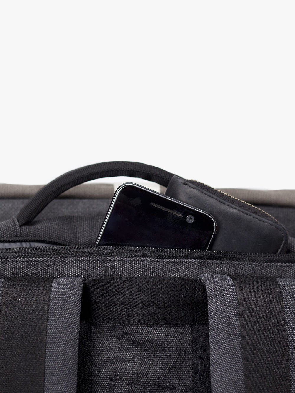 Hajo Pro backpack back zipped pocket for a safe keeping of phone and wallet