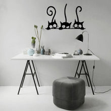 3 Black Kitties Wall Decoration