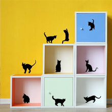 9 Playful Kitties Wall Decoration Black
