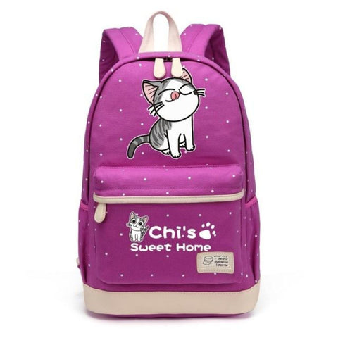 Adorable Chi Sweet Home Backpack Yummy Purple Backpack