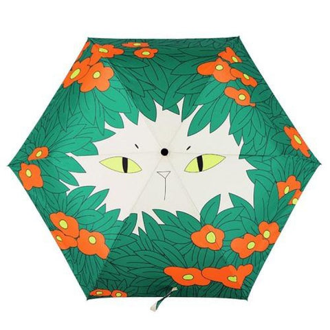 Artful Chubby Cat Umbrella Hunting Umbrella