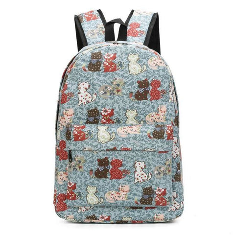 Blooming Cat Backpack Sea Blue Backpack