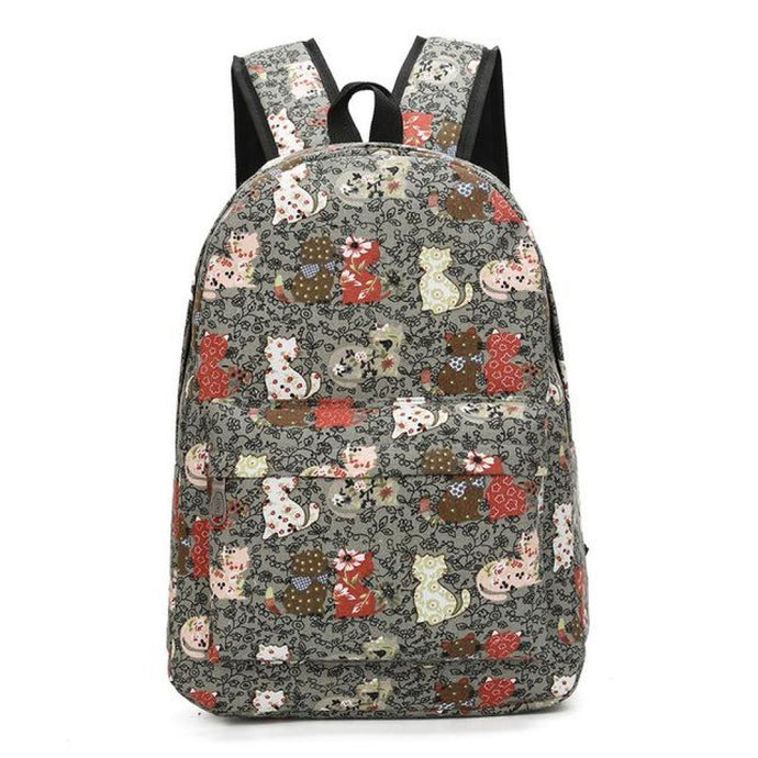 Blooming Cat Backpack Toffee Backpack