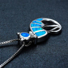 Blue Fur Cats Pendant