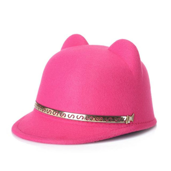 Bowler Meow Hat Candy Pink Hat