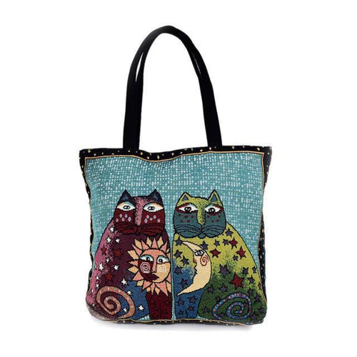 Cat In The Bag By Laurel Burch Sun N Moon Shoulder Bag